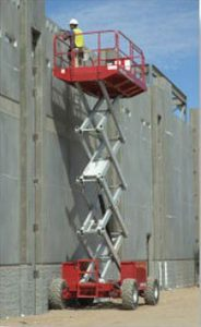 MEC 4191ES in the field working on high exterior walls