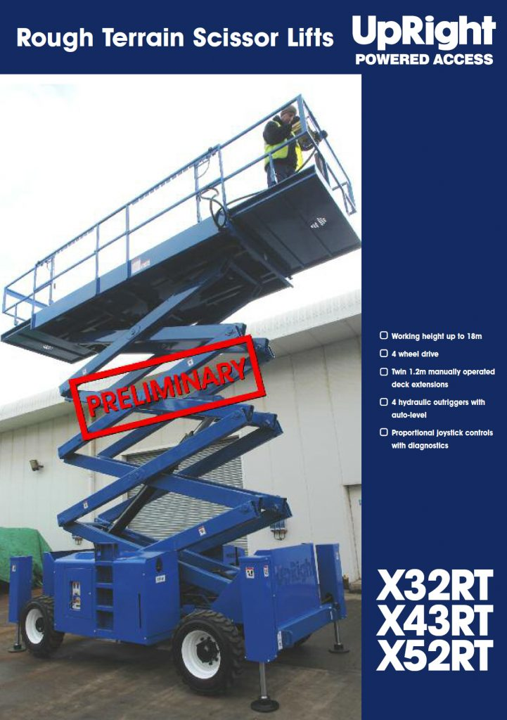 Automotive Lift Rentals : Upright rt scissor lift for sale or rent canlift
